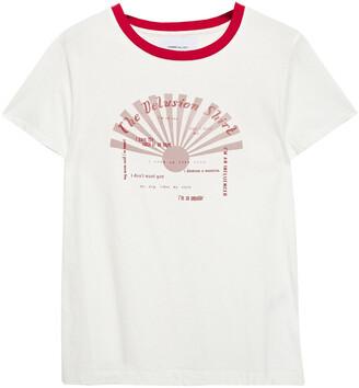 Current/Elliott The Retro Crew Printed Cotton-jersey T-shirt