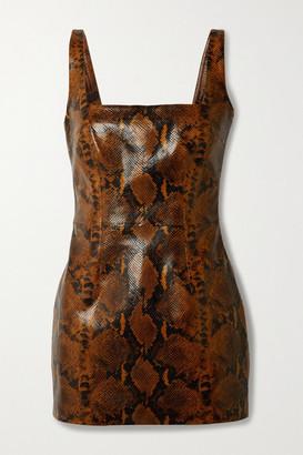 GAUGE81 Kaoma Snake-effect Faux Leather Mini Dress - Snake print