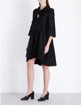Co Tie-collar wool-blend dress