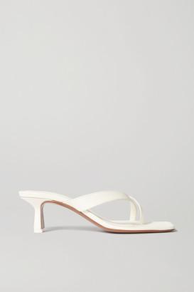 Neous Florae Leather Sandals - Cream