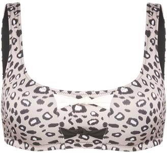 Morgan Lane Zizi leopard-print bikini top