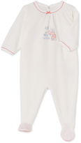 Petit Bateau Baby girls pajamas in velours