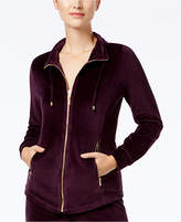 Charter Club Petite Velour Lounge Jacket, Created for Macy's
