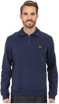Lacoste Light Weight Fleece 1/4 Zip Sweatshirt
