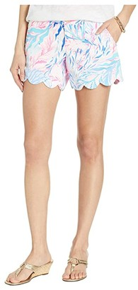 Lilly Pulitzer Buttercup Stretch Shorts (Crew Blue Tint Kaleidoscope Coral) Women's Shorts