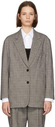 3.1 Phillip Lim Black and White Check Oversized Blazer