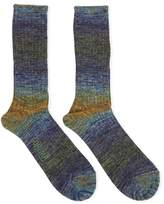 Anonymous Ism GO Hemp Splash Blue & Yellow/Green Socks - Blue