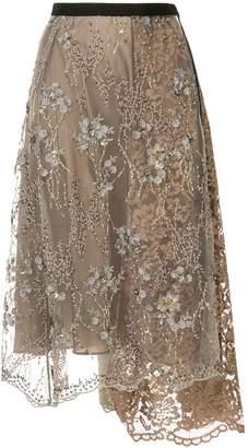 Antonio Marras embellished lace midi skirt