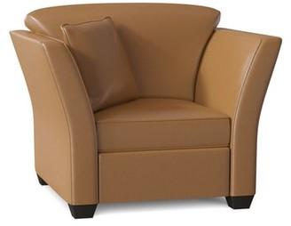 Omnia Leather Manhattan Leather Armchair Body Fabric: Europa Cafe Latte, Cushion Fill: Standard Cushion Fill