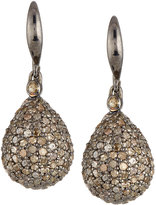 Bavna Pave Diamond Teardrop Earrings