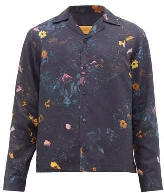 Saturdays NYC Marco Digital Floral-print Lyocell Shirt - Mens - Multi