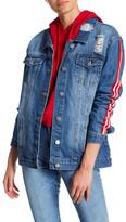ASHLEY MASON Side Stripe Denim Jacket
