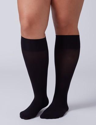 Lane Bryant Solid Trouser Socks 2-Pack