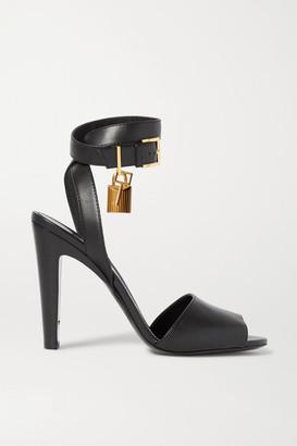 Tom Ford Embellished Leather Sandals - Black