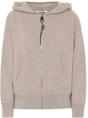 Agnona Zipped cashmere and wool hoodie