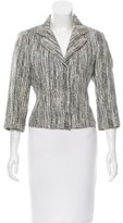Narciso Rodriguez Notched-Collar Tweed Jacket