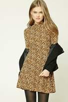 Forever 21 FOREVER 21+ Cheetah Print Skater Dress