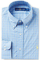 Polo Ralph Lauren Fitted Classic-Fit Point-Collar Plaid Dress Shirt