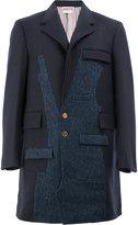 Thom Browne textured single breasted coat