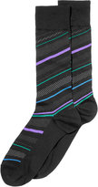 Perry Ellis Men's Striped Dress Socks