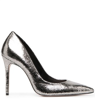 Schutz Cracked-Effect Stiletto Pumps