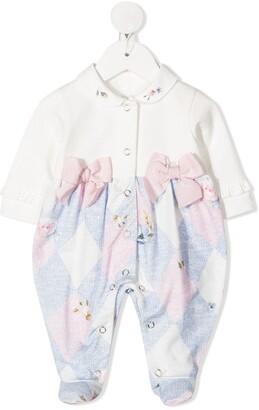 Lapin House Argyle-Print Pajamas