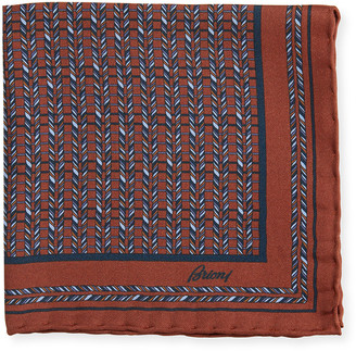 Brioni Men's Multi-Diagonal Rope Silk Pocket Square
