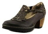 Jambu Waywood Women Round Toe Synthetic Brown Heels.