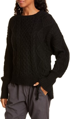 NSF Skyla Side Tie Wool Blend Sweater