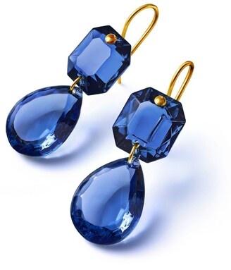 Baccarat Sterling Silver and Crystal Drops of Colour Earrings