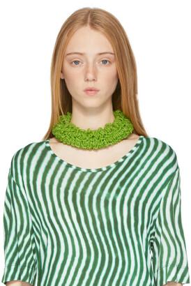 Dries Van Noten Green Beaded Necklace
