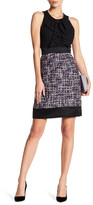 Anne Klein Bow Sheath Dress with Tweed Skirt