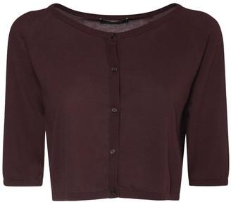 S Max Mara Cropped Cotton Knit Cardigan