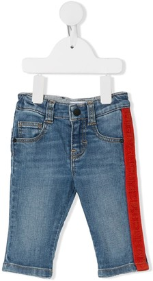 Givenchy Kids logo trim denim jeans
