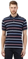 Maine New England Big And Tall Navy Birdseye Striped Polo Shirt