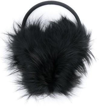 Fendi embossed logo earmuffs