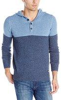 Dickies Men's Color-Block Henley Sweater with Hood
