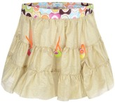 Pate De Sable Gold Ruffle Beach Skirt