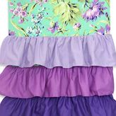 Caden Lane Paige Ruffle Window Panel Pair in Purple