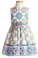Toddler Girl's Pippa & Julie Tile Print Dress