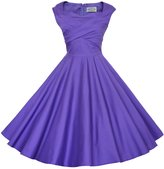 Maggie Tang 50s 60s Vintage Retro Swing Rockabilly Picnic Party Dress M