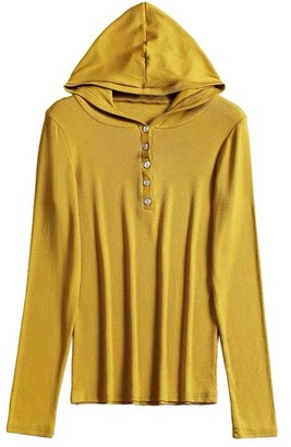 Goodnight Macaroon 'Daisy' Hooded Ribbed Soft Button Top (6 Colors)