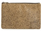Madewell The Leather Pouch Clutch In Genuine Calf Hair - Brown