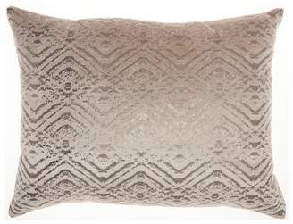Mid-Century MODERN Mina Victory Luminecense Metallic Diamonds Lumbar Throw Pillow
