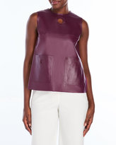 Raoul Mod Top with Leather Front