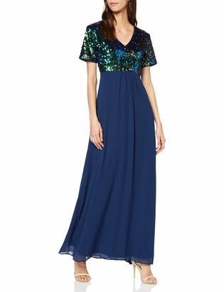 Yumi Women's Sequin Top Maxi Dress Cocktail