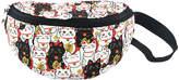 Black & White Lucky Cats Belt Bag