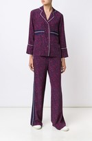 Derek Lam Wide Leg Trouser w/ Grosgrain Trim