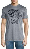 Versace Flocked Medusa Head Graphic Short-Sleeve T-Shirt, Gray