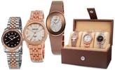 August Steiner Women's Rose Tone Watch Gift Set